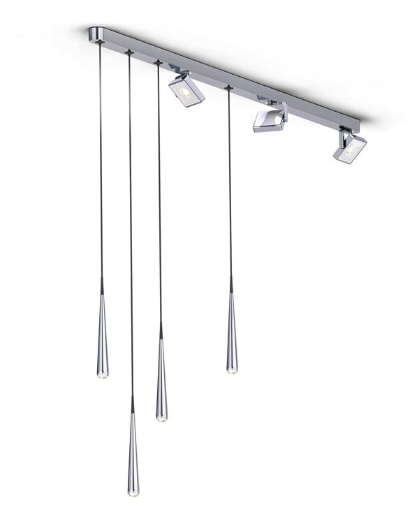 (2014年第61届iF设计奖金奖)这个轨道吊灯包括点吊灯和线吊灯两种,轨道上包括各种长度和特点的吊灯。内藏连接器的它还支持调节吊灯的工具,方便用户调节吊灯的长度和吊灯的种类。