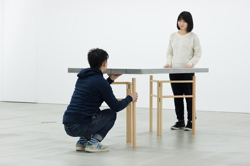 轻质海绵桌亮相东京21_21 design sight