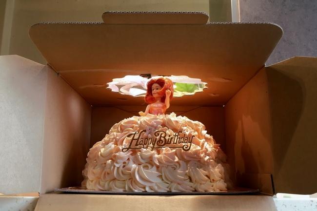 包子为朋友的女儿制作的生日蛋糕