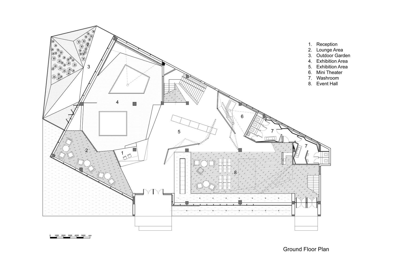艺术馆咖啡厅 设计图