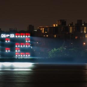 奥迪如何用车灯展示2014年世界杯比分
