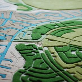 景观地毯:把航拍地图做到地毯上
