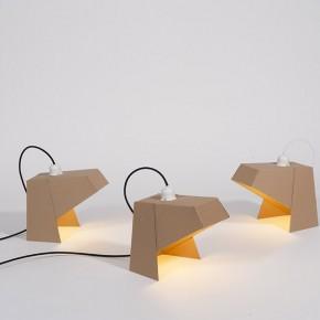 最环保的设计:可折叠的纸板灯具Mylamp