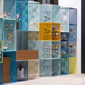 平凡的创意:Papabubble的彩色货架