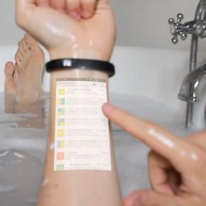 Cicret Bracelet智能手环:让皮肤变成触摸屏