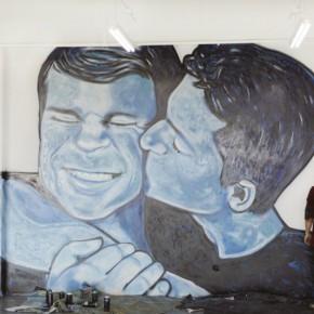 """看巴西著名涂鸦艺术家如何表达对""""同志""""的看法"""