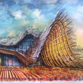 2015米兰世博会展馆精美手绘