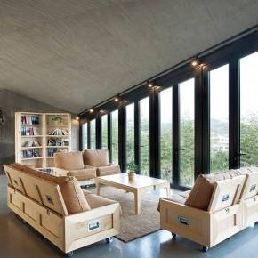 """20多位知名建筑师和艺术家共同打造的""""六间房""""别墅"""