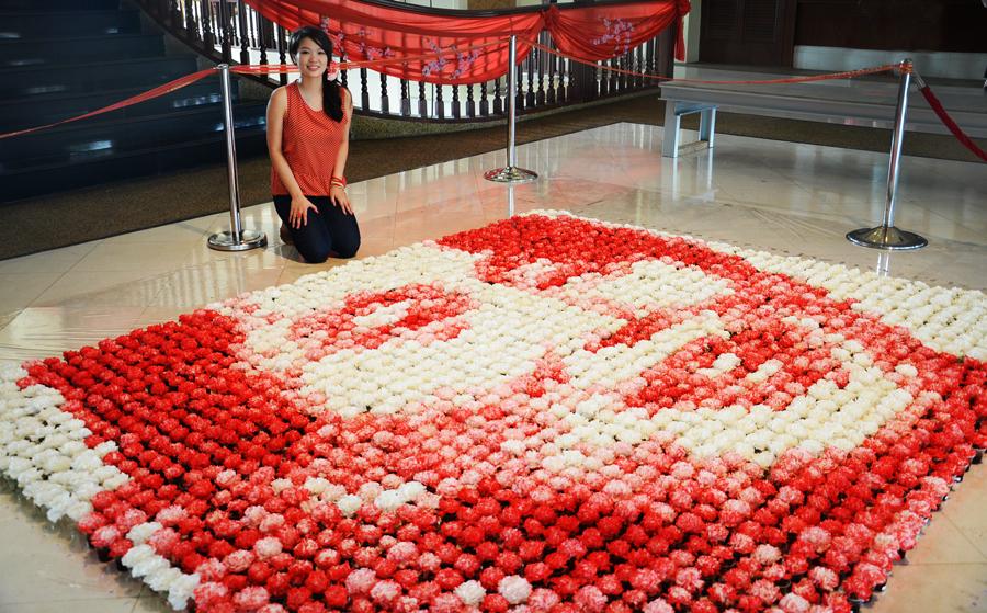 Red-Aung San Suu Kyi-flowers-hisheji (3)
