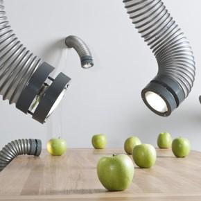 灵感来自于排风管的咽喉灯