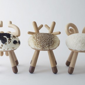 毛茸茸的小动物座椅