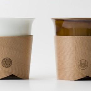 一只羽织杯,融入了两种传统手工艺