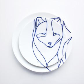 展现野性之美的极地动物工艺盘