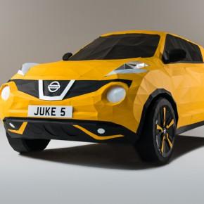 2000多张纸折出来的Nissan Juke