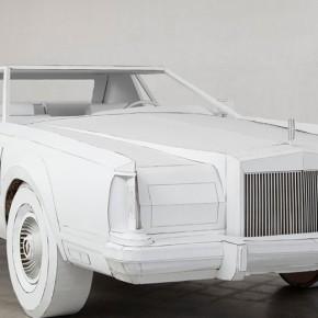 艺术家用纸板重现林肯经典老爷车