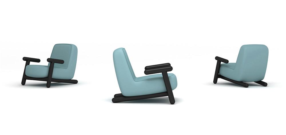Frank Chou Design Studio_Frank Chou_Bold Armchair Blue_Hall E2-98