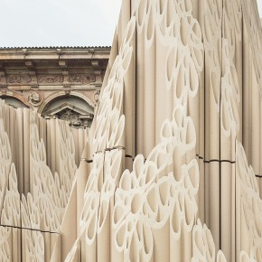 DesignLAB:他们用1670根陶瓦做了一面雕塑围墙