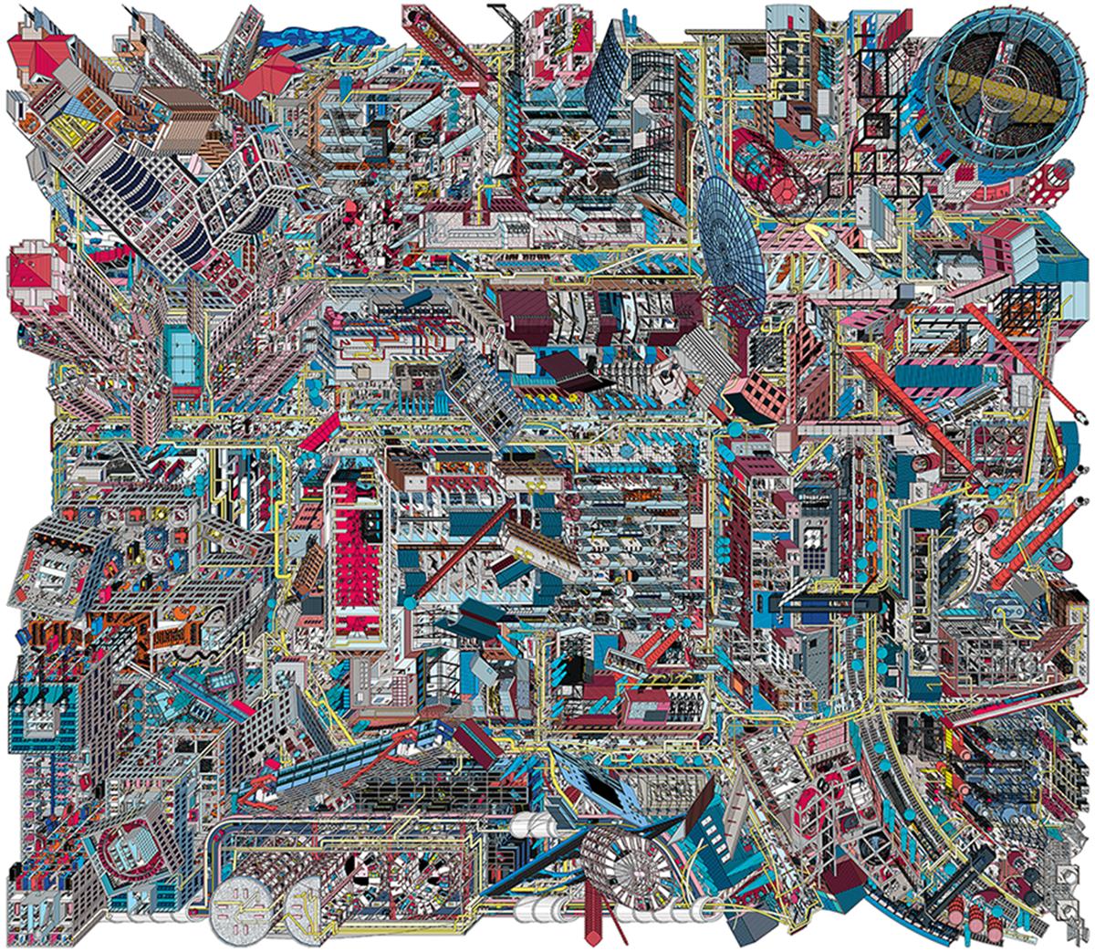 《798》,艺术微喷,540 × 470 cm,2017