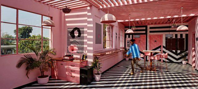 这个少女心爆棚的波普空间竟是家餐厅