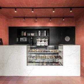 这个13平米的饼干店,用了一个最甜的颜色