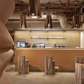 从家具到菜单,这家咖啡馆的一切竟然都是用纸做的!