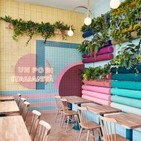 这家霓虹色餐厅,一下把你带回古意大利
