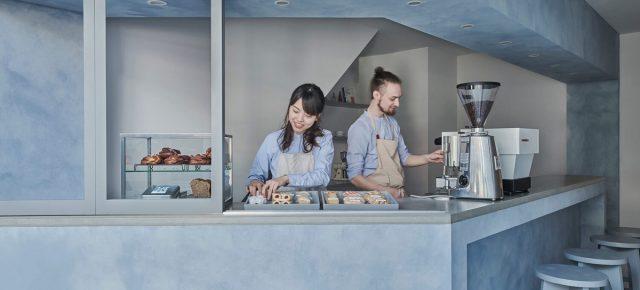 淡蓝色咖啡甜品店,10㎡小空间这样改造高级又清爽!