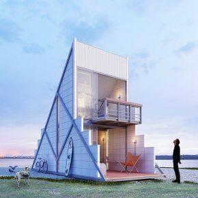"""我也想住在这个40平方米的""""三角形""""里!"""