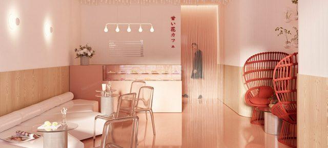 甜品店用4000根木条打造天花板,美到密恐患者也喜欢!