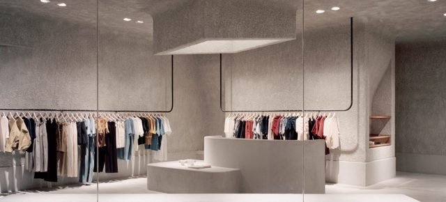 不走寻常路!这家服装店用粗糙混凝土打造高级文艺范