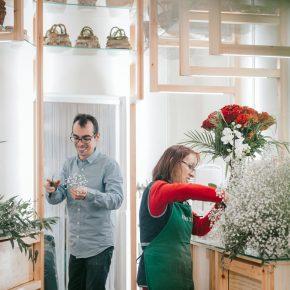63㎡小花店改造,梯子竟派上大用场?
