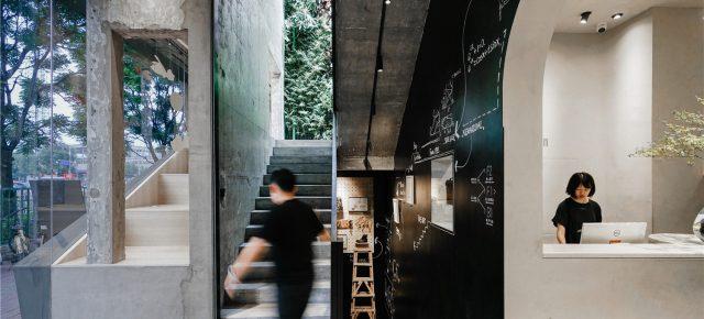 """神奇建筑研究室丨""""宇宙中心""""的非典型商店-素人皮具北京五道口店"""