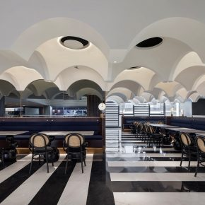 得德设计   用42个连续穹顶的叙事手法,打造一间朋友们的欢聚餐厅