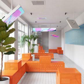 咖啡店把家具漆成这个色,瞬间让人眼前一亮!