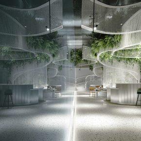 峻佳设计 | 福州万科金域时代营销中心,一处未来咖啡馆